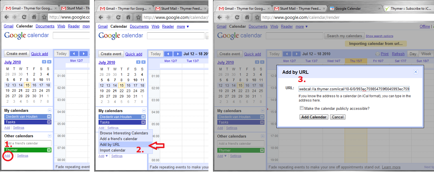 how to add an ical to outlook